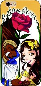Capinha para celular - Princesa Bela e a Fera com fundo