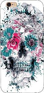 Capinha para celular - Flores em Skull