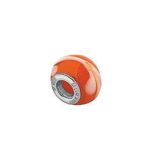 Berloque separador murano laranja