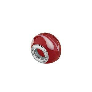 Berloque murano separdor vermelho