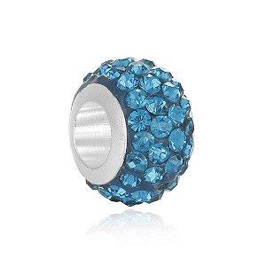 Berloque separdor strass azul