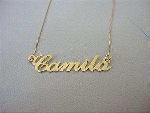 Manuscrito  Camila em ouro 18k 750