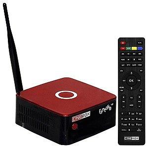 Receptor FTA Fantasia+ HDMI/RJ45/USB c/ Controle Remoto + Óculos 3D - Vermelho