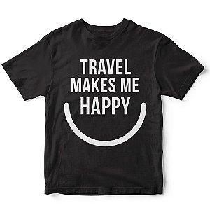 Camiseta travel makes me happy
