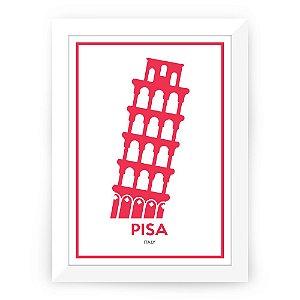 Pôster Itália Pisa com moldura