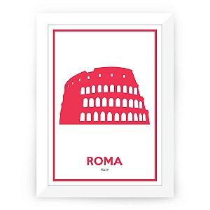 Pôster Itália Roma com moldura
