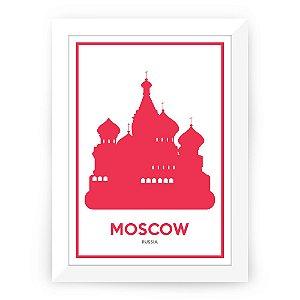 Pôster Russia Moscou com moldura