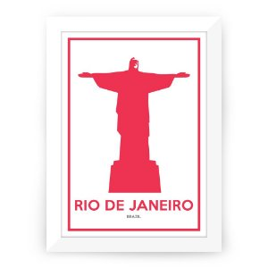 Pôster Rio de Janeiro com moldura