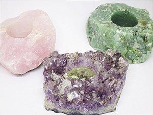 Castiçal / Porta Velas Em Pedra