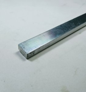 "Barra Chata de Aluminio 1/2"" X 1/4"" (1,27cm X 6,35mm)"