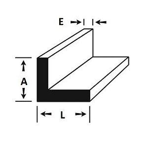 Cantoneira de Aluminio 1.1/2 X 1/8 (3,81cm X 3,17mm)
