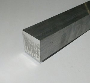 """Vergalhão quadrado de alumínio 2"""" (5,08cm)"""