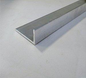 "Cantoneira aluminio abas desiguais 2"" x 1"" x 1/8"" = (5,08cm x 2,54cm x 3,17mm)"