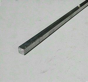 """Vergalhão quadrado de alumínio 1/4"""" (6,35mm)"""