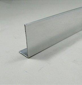 "Cantoneira aluminio abas desiguais 1.1/2"" x 3/4"" x 1/16"" (3,81cm x 1,9cm x 1,58mmm)"