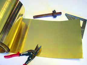 Folha de Latão 0,10mm x 30cm X 1 metro (Latonagem)