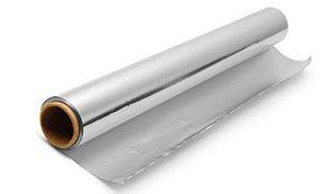 Folha de aluminio para latonagem  60cm x 0,10mm com 1 metro
