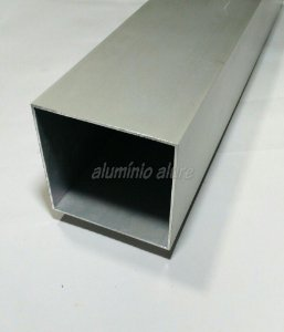"Tubo Quadrado Aluminio 4"" (10,17cm) x 2,00mm"
