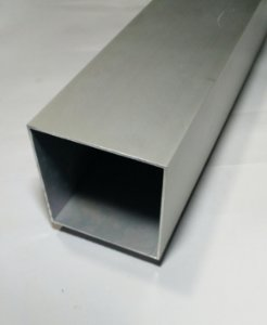 "Tubo Quadrado de Aluminio 3"" (7,62cm) x 2,00mm"