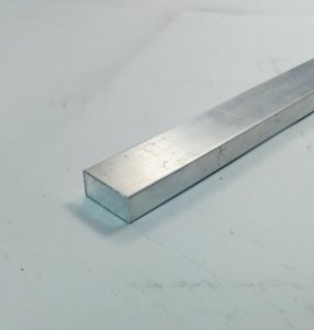 "Barra Chata Aluminio 3/4"" X 3/8"" = 1,9cm X 9,52mm"