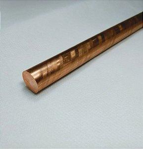 """Vergalhão redondo de cobre 5/8"""" (1,58cm)"""