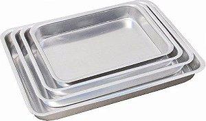 Conjunto de assadeiras formas para bolo em alumínio 4 peças baixa