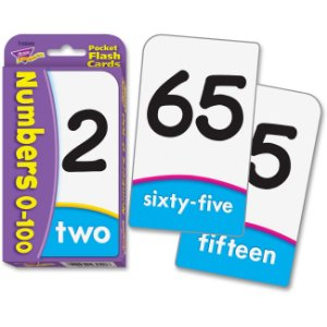 NUMBERS 0-100 POCKET FLASHCARDS