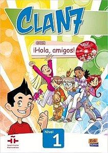 CLAN 7 CON HOLA AMIGOS 1 LIBRO + CD-ROM