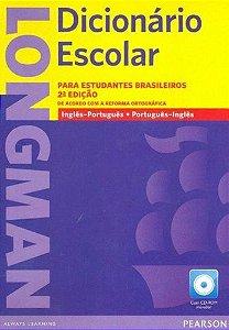 DICIONÁRIO ESCOLAR LONGMAN PARA ESTUDANTES BRASILEIROS ING/PORT- PORT/ING COM CD ROM