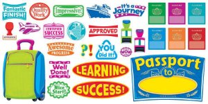 BULLETIN BOARD SET - PASSPORT TO LEARNING T8296
