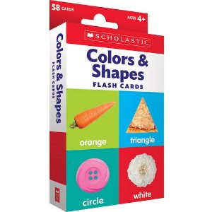 COLORS & SHAPES FLASH CARDS-  SCHOLASTIC