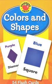 COLORS AND SHAPES FLASH CARDS- BRIGHTER CHILD