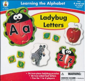 LADYBUG LETTERS - LEARNING THE ALPHABET PUZZLES