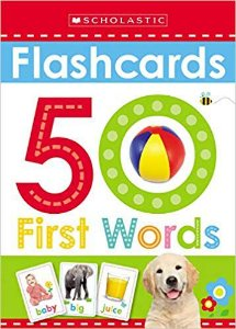 50 FIRST WORDS: FLASHCARDS SCHOLASTIC