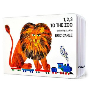 1, 2, 3 TO THE ZOO A COUNTING BOOK BY ERIC CARLE SCHOLASTIC