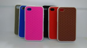 Capa emborrachada para celular Iphone 4 Vans off the wall
