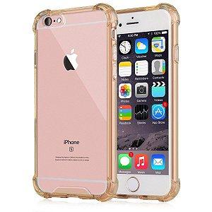 Capinhas para Iphone 6/6s com bordas translucida tpu silicone gel anti impacto