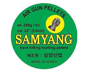 Chumbinho Pointed Calibre 5,5mm - 100 Unidades - Samyang - Sumatra
