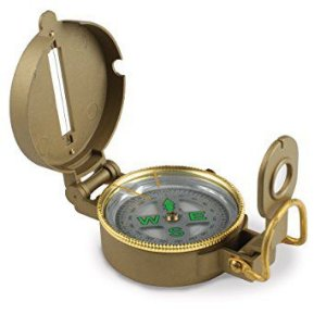 Bussola Metal Case Liquid Filled Lensatic Compass 360° Degree