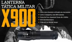 Lanterna Tatica Militar - X900