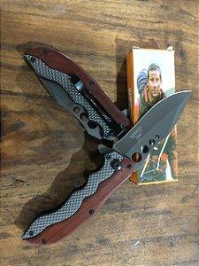 Canivete bear grylls - cabo de madeira