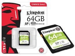 Cartao de Memoria 64GB MicroSD Kingston Classe 10 com Adaptador - SDCS/64GB