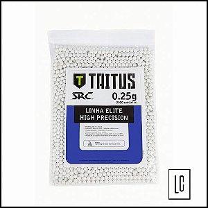 Bolas para airsoft TAITUS SRC 0.25 gramas 3.000 unidades
