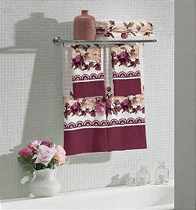 Jogo de banho Flora - 2 peças