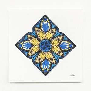 Mandala Pavão - Original