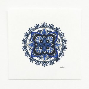 Mandala Bordado Azul - Original