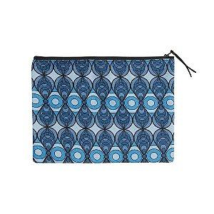 Necessaire Grande Azulejo Azul - com forro