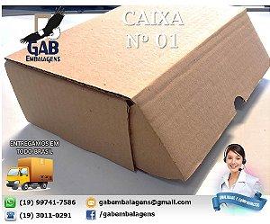 Caixa 01 - 26 x 16 x 8 - (PACOTE c/ 25 unidades)