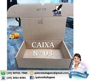 Caixa 03 - 33 x 24 x 12 - (PACOTE c/ 25 unidades)