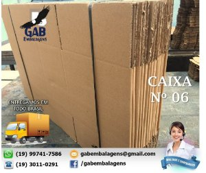 Caixa 06 - 60 x 30 x 30 - (PACOTE c/ 15 unidades)